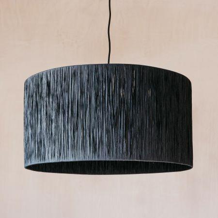Black Raffia Pendant Light