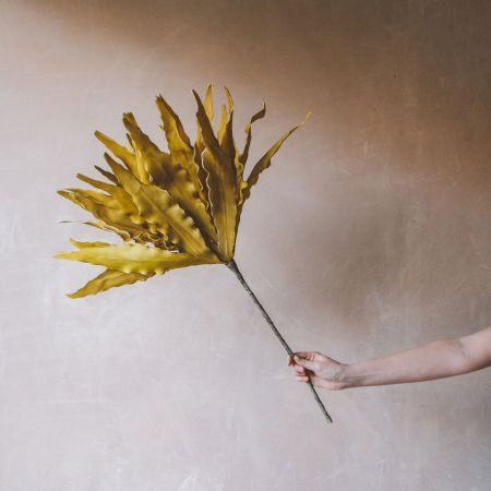 Faux Mustard Solvie Flower