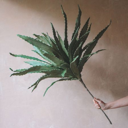 Faux Green Aloe Flower