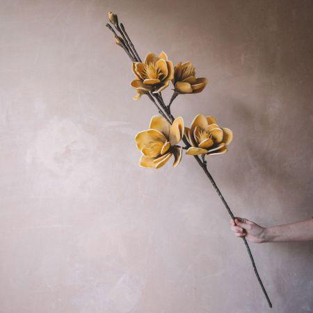 Faux Yellow Allia Flower
