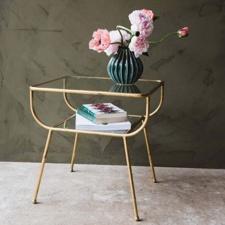 Eluminea Large Gold Side Table