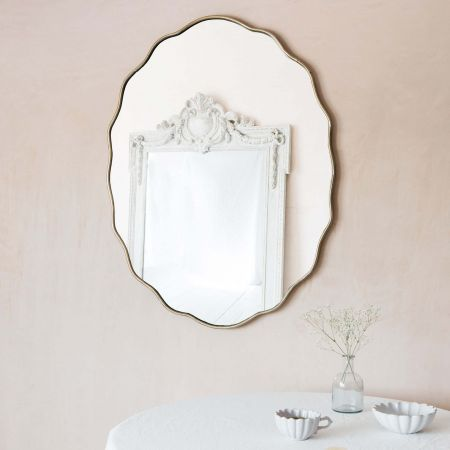 Bevelled Edge Oval Mirror