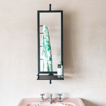 Rotating Mirror with Shelves