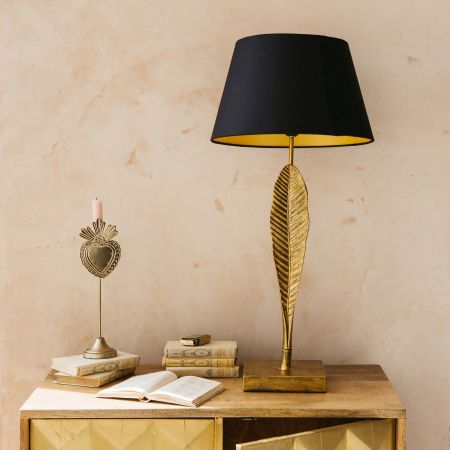 Golden Leaf Lamp with Shade