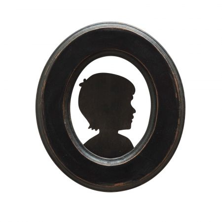 Framed Antiqued Boy Silhouette