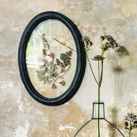 Framed Dried Pink Flowers