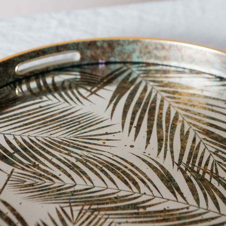 Mirrored Fern Leaf Tray