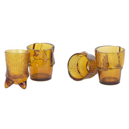 Set of Four Ginger Cat Glasses