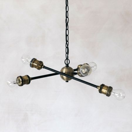 Industrial Six Light Pendant - Thumbnail