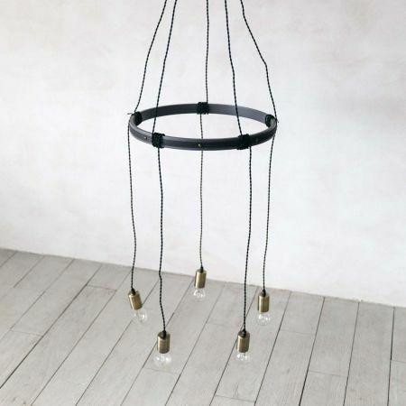 Rustic Five Light Cluster Pendant