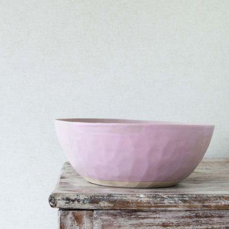Dusky Pink Organic Salad Bowl - Thumbnail