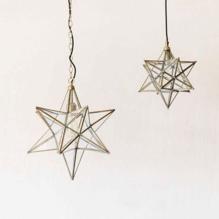 Star Brass Pendants