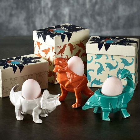 Dinosaur Ceramic Egg Cups