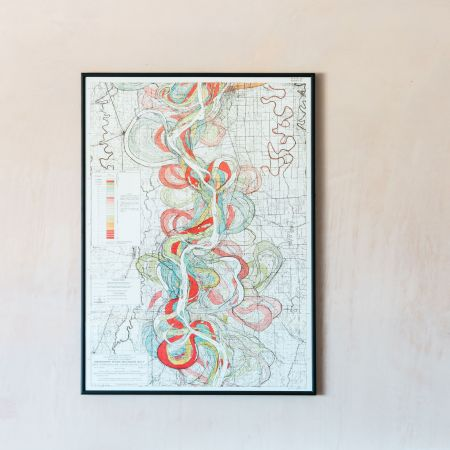 Medium Framed Mississippi Long River Print