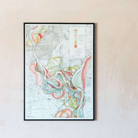 Medium Framed Mississippi Great River Print