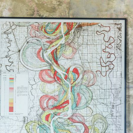 Large Framed Mississippi Long River Print