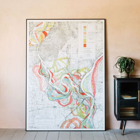 Large Framed Mississippi Great River Print