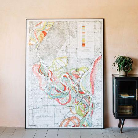 Large Framed Mississippi Great River Print