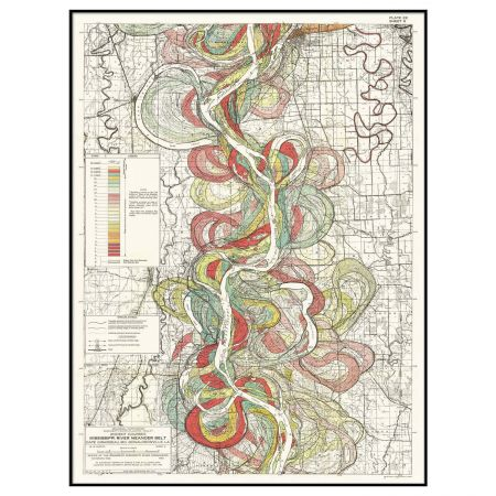 Extra Large Framed Mississippi Long River Print
