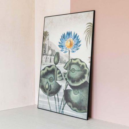 Extra Large Framed Blue Water Lily Print