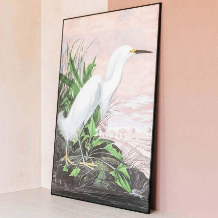 Extra Large Framed Pink Sky Heron Print