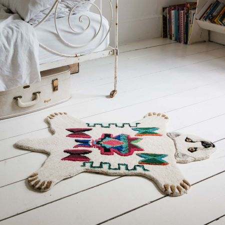 Small Aztec Polar Bear Rug