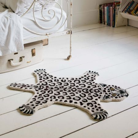 Small Sam Snow Leopard Rug