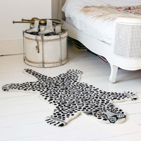 Large Sam Snow Leopard Rug