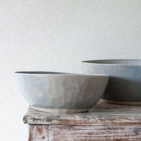 Grey Organic Serving Bowl - Thumbnail