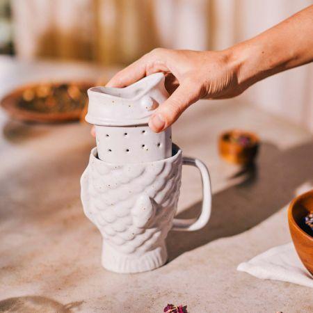 Taiyaki Mug with Tea Strainer