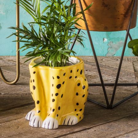 Cheetah Flower Pot