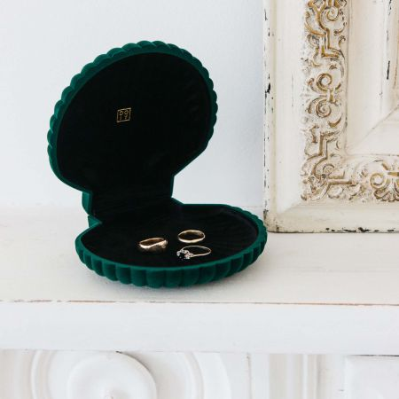 Green Shell Jewellery Box