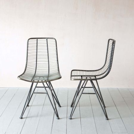 Set of Two Jana Metal Chairs