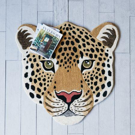 Leon Leopard Head Rug