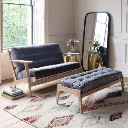 Dylan Grey Velvet Sofa