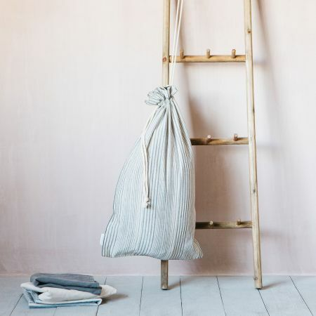 Annika Woven Stripe Laundry Bag
