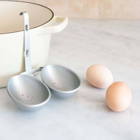 Silver Double Egg Poacher