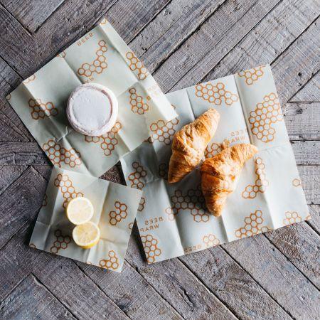 Set of Three Assorted Bee's Wraps