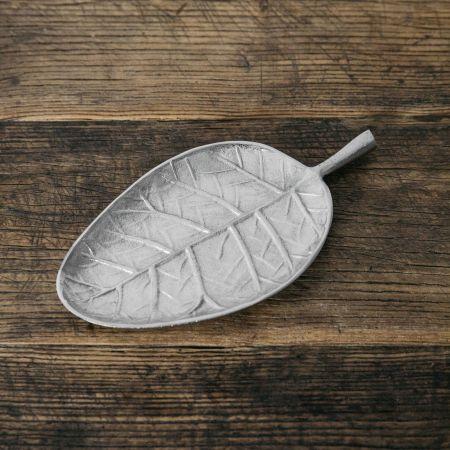 Silver Pear Leaf Dish