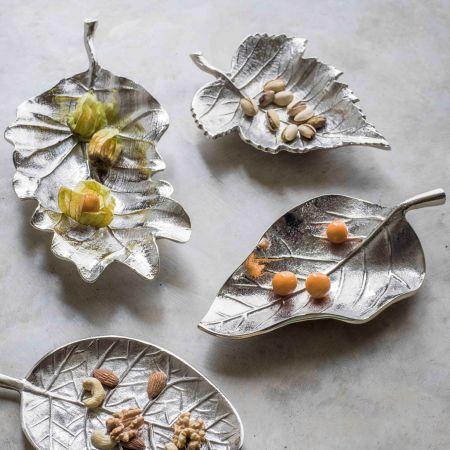 Silver Leaf Dishes