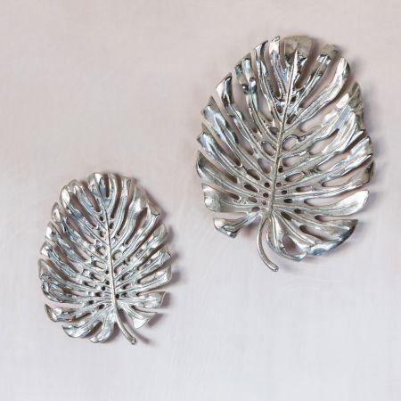 Silver Monstera Leaves