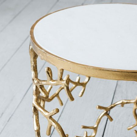 Gold Branchlet Side Table