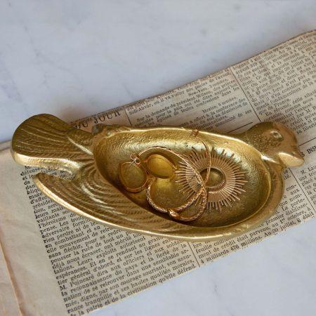Brass Dove Dish