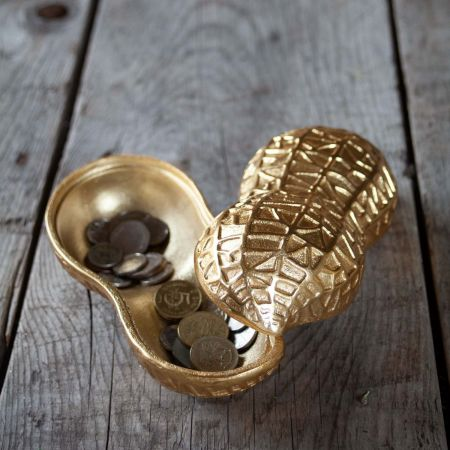 Peanut Shaped Gold Box - Thumbnail