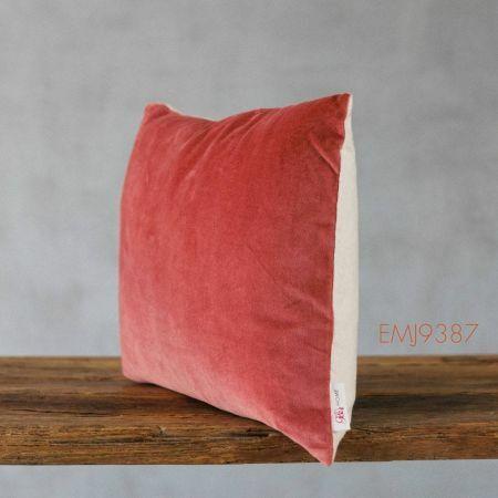 Coral Velvet Rectangular Cushion