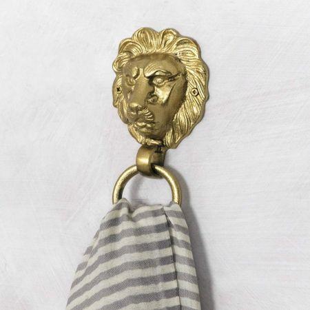 Aslan Lion Brass Ring - Thumbnail