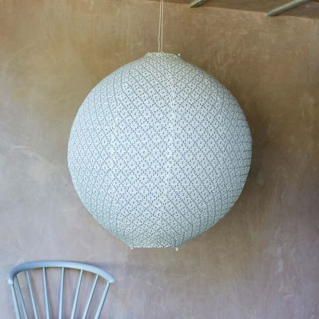 Rikka Large Round Indigo Fabric Shades - Thumbnail