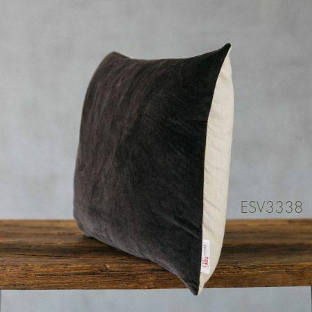 Grey Velvet Rectangular Cushion