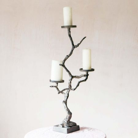 Tree Pillar Candle Holder