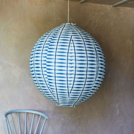 Rikka Large Round Indigo Fabric Shades